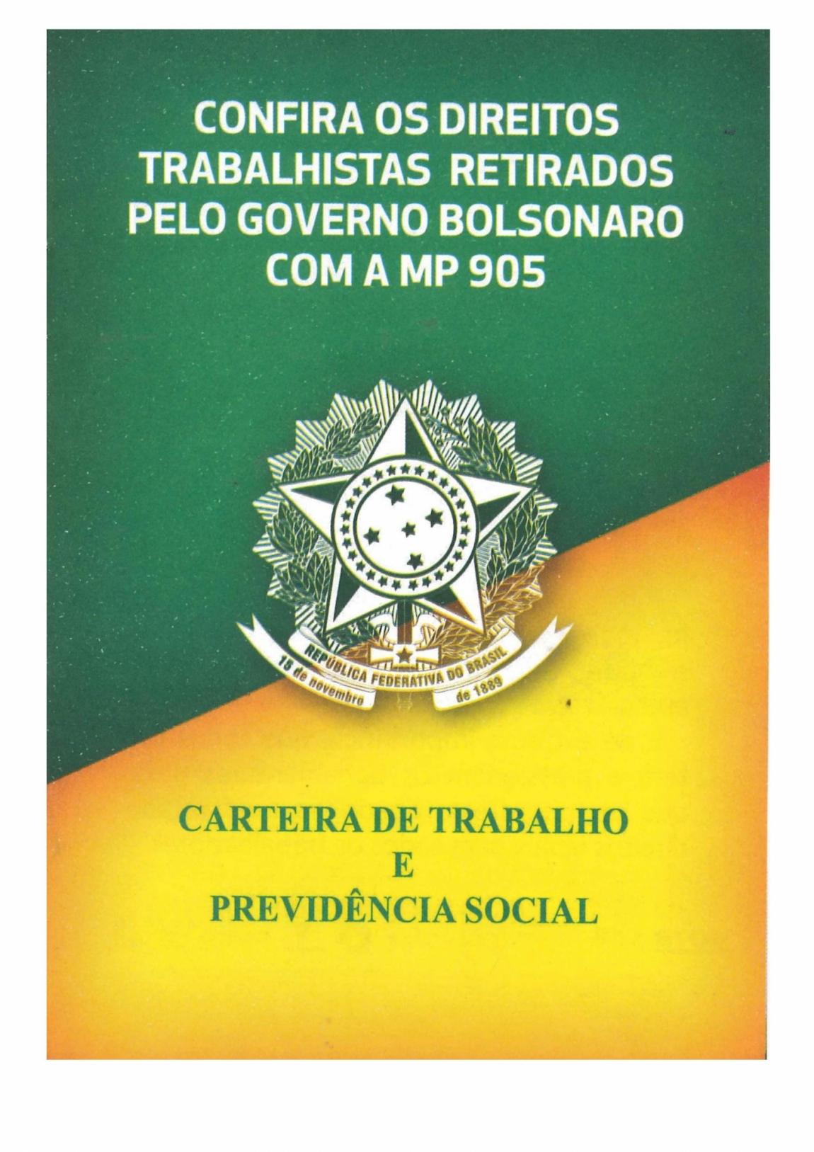 Imagem de Confira os direitos trabalhistas retirados pelo governo Bolsonaro com a MP 905