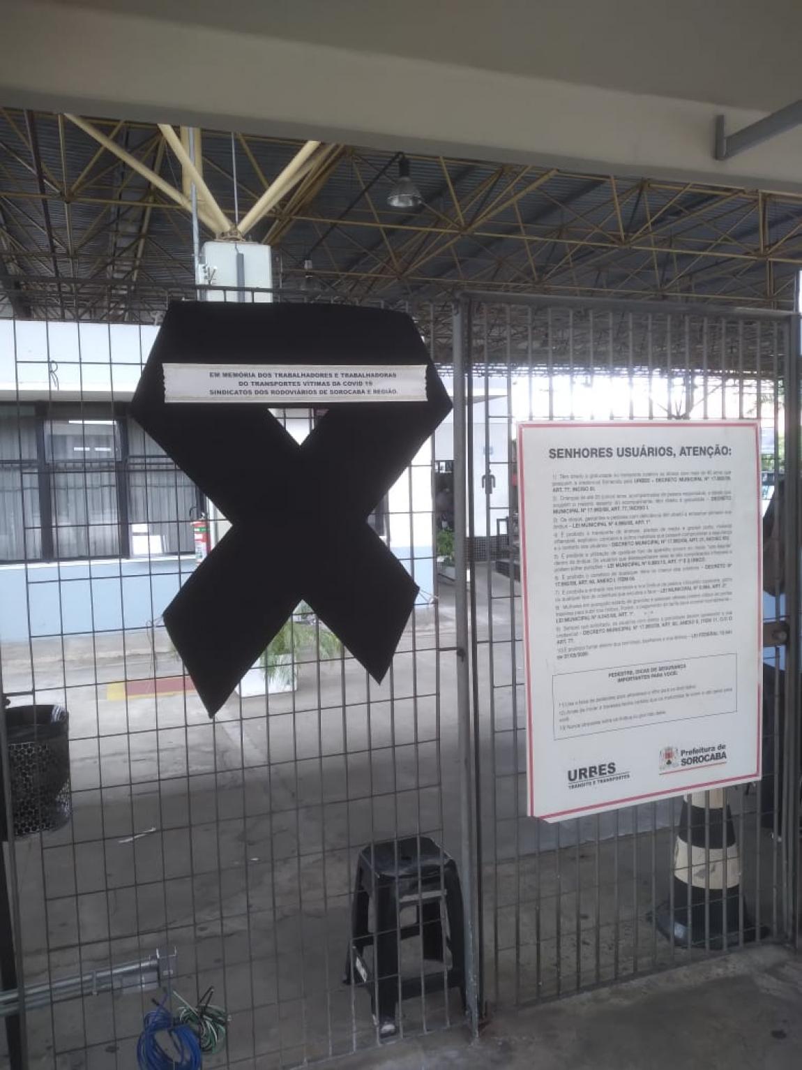 Imagem de Sindicato dos Rodoviários de Sorocaba presta homenagem às vítimas da COVID-19