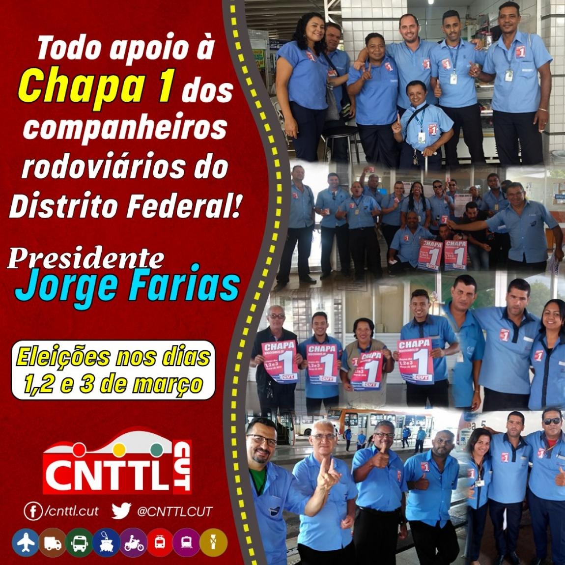 Imagem de Brasília: Rodoviários vão às urnas eleger nova direção do Sindicato nos dias 1, 2 e 3 de março