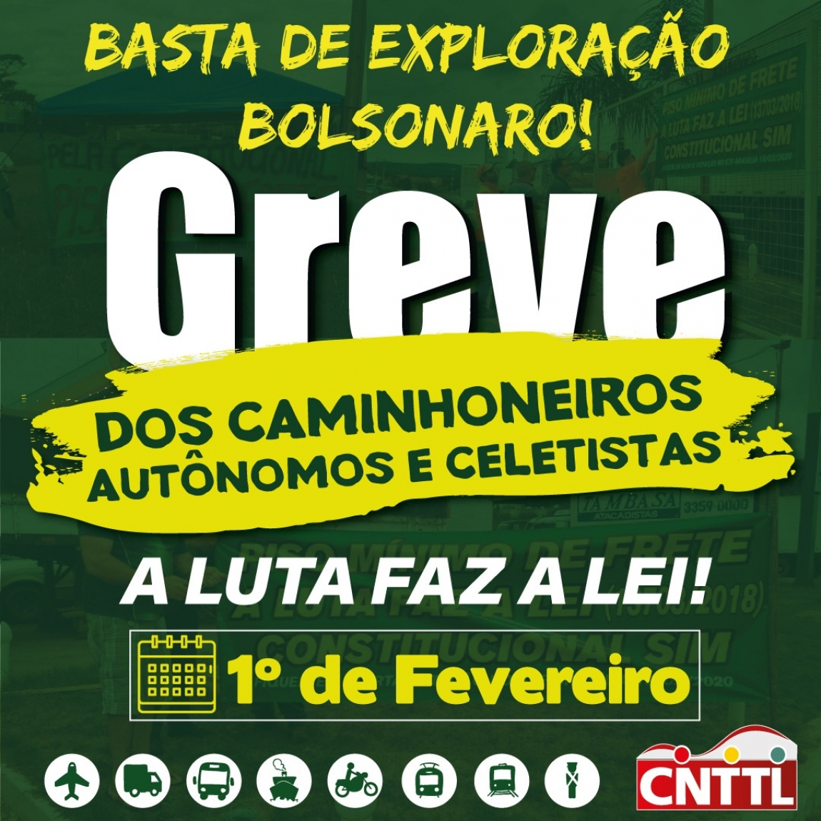 Imagem de CNTTL apoia Greve Nacional dos Caminhoneiros do dia 1º de fevereiro