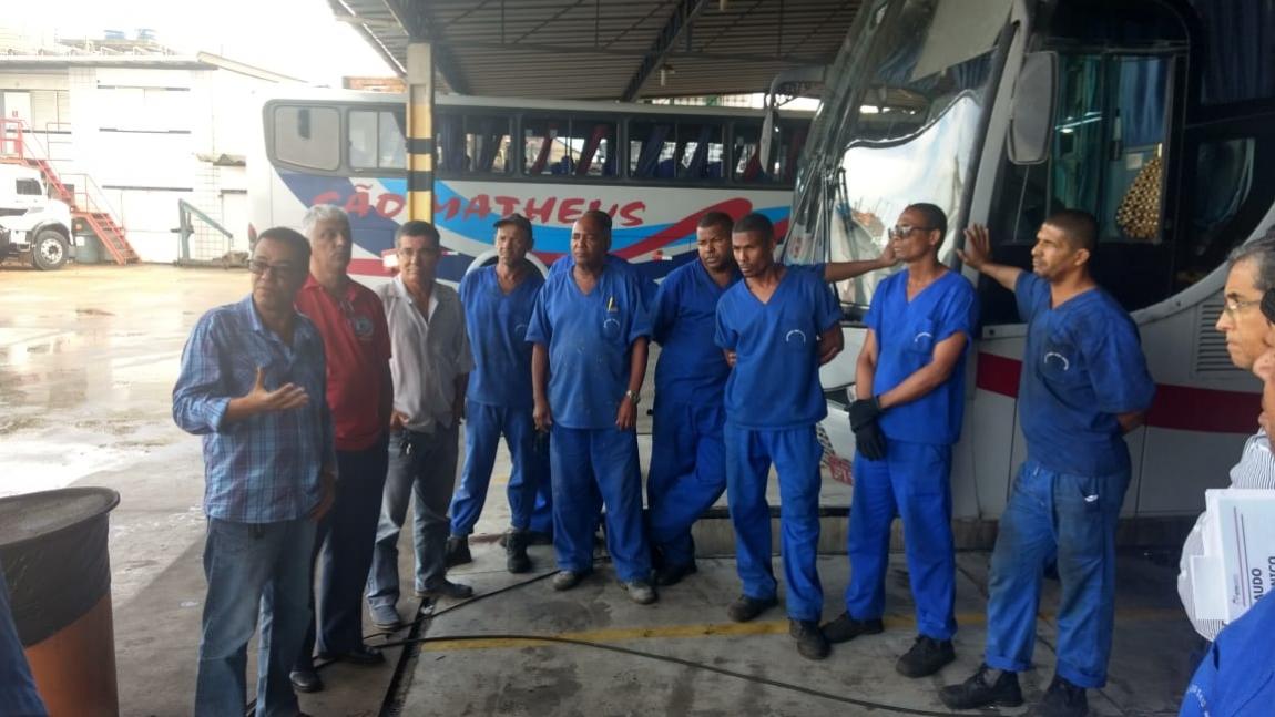 Imagem de Bahia: Rodoviários Intermunicipais visitam garagem da São Matheus para atender demandas da categoria