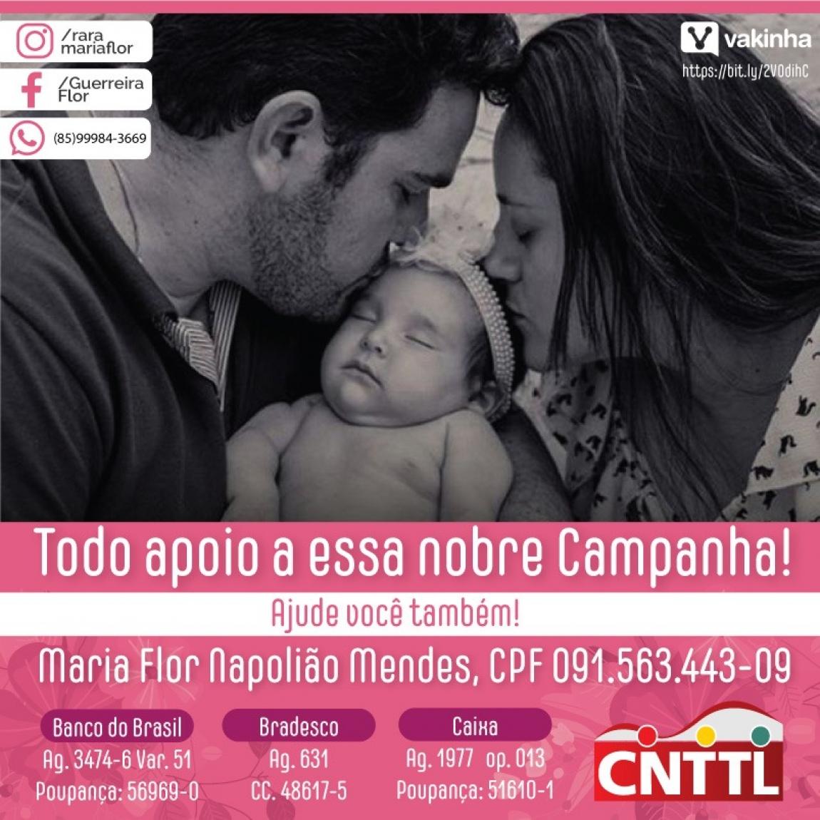 Imagem de Ajude a pequena guerreira Maria Flor na luta pela vida!
