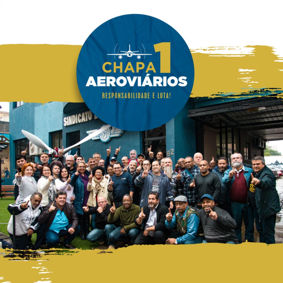 """Imagem de CNTTL apoia Chapa 1 """"Responsabilidade e Luta"""" dos Aeroviários de Porto Alegre"""