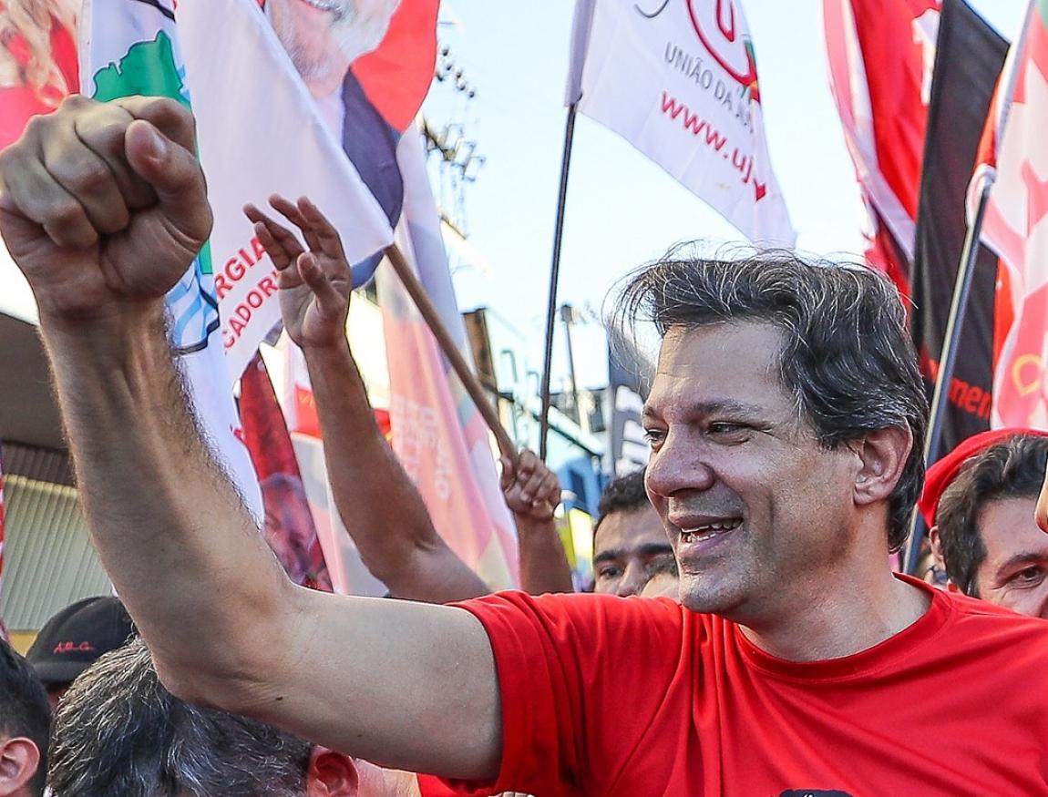 Imagem de Haddad representa o melhor para o Brasil e para os brasileiros