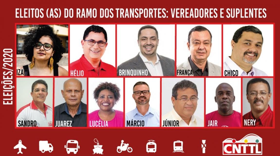 Imagem de Conheça os sindicalistas do ramo dos transportes eleitos nas eleições municipais de 2020
