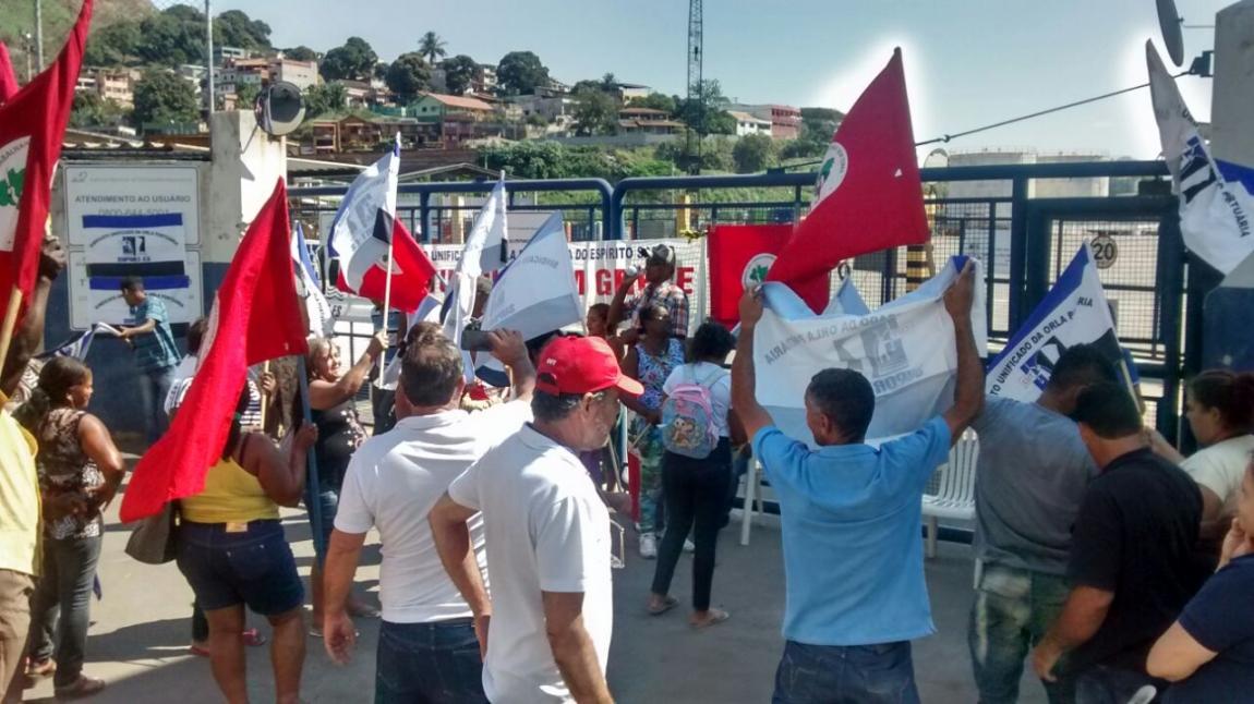 Imagem de Vila Velha: Portuários no Peiú cruzam os braços