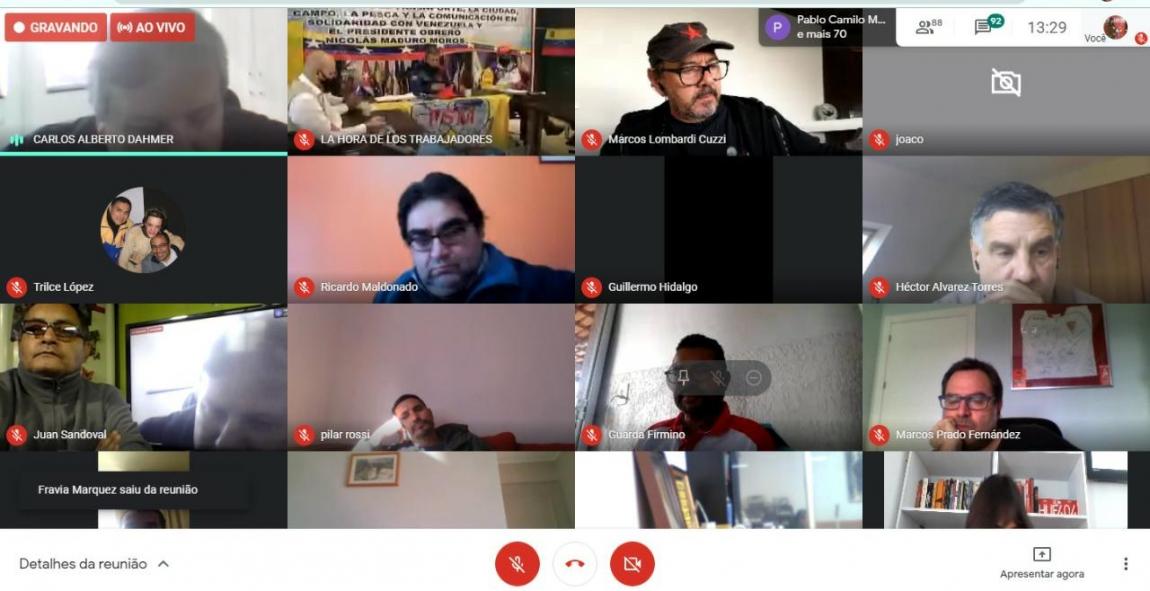 Imagem de CNTTL manifesta apoio à luta bolivariana e cubana contra imperialismo em reunião virtual da FUTAC