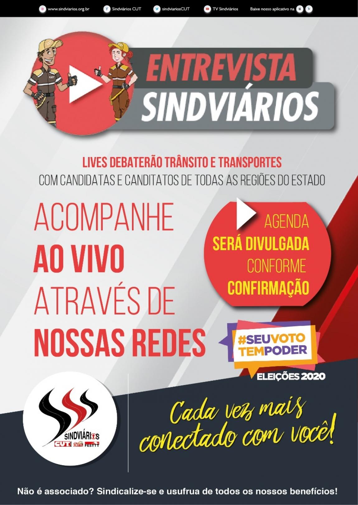 Imagem de Lives do Sindviários ouvirão propostas dos candidatos a prefeitura e vereadores
