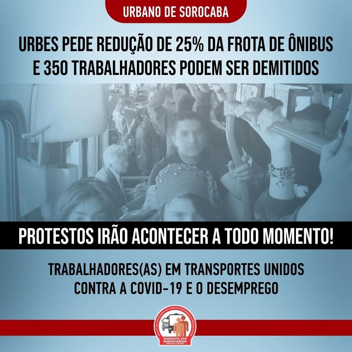 Imagem de Sorocaba: Sindicato dos Rodoviários repudia posição da URBES em reduzir 25% da frota de ônibus