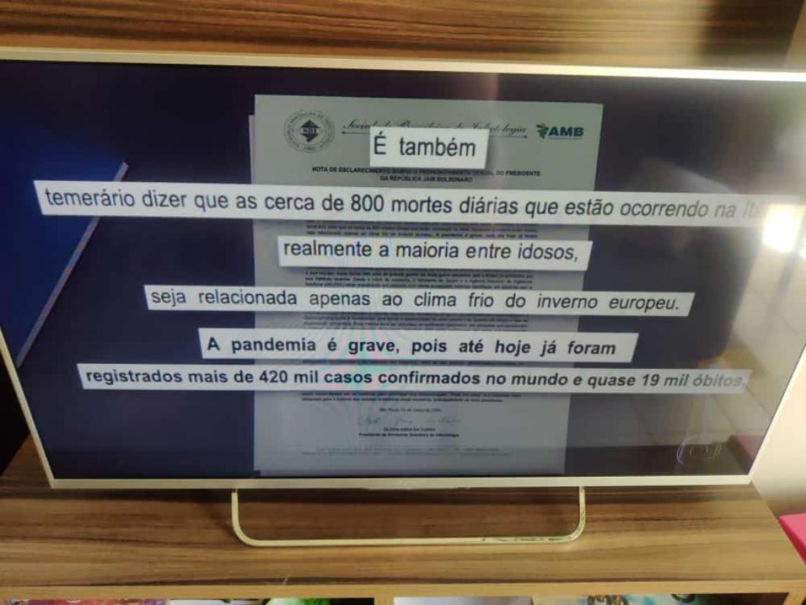 Imagem de Sociedade Brasileira de Infectologia: Bolsonaro é 'temerário' sobre coronavírus