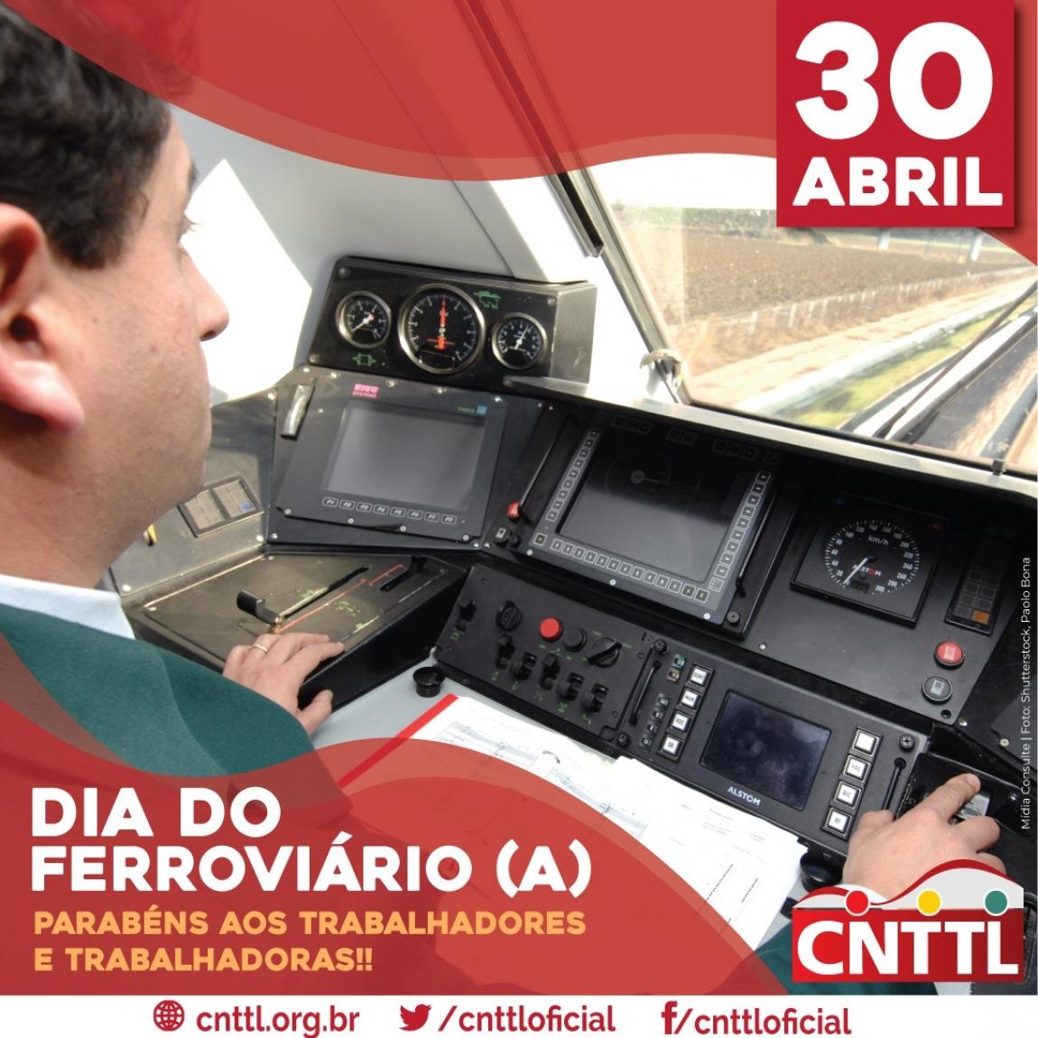 Imagem de CNTTL parabeniza os ferroviários e ferroviárias do Brasil