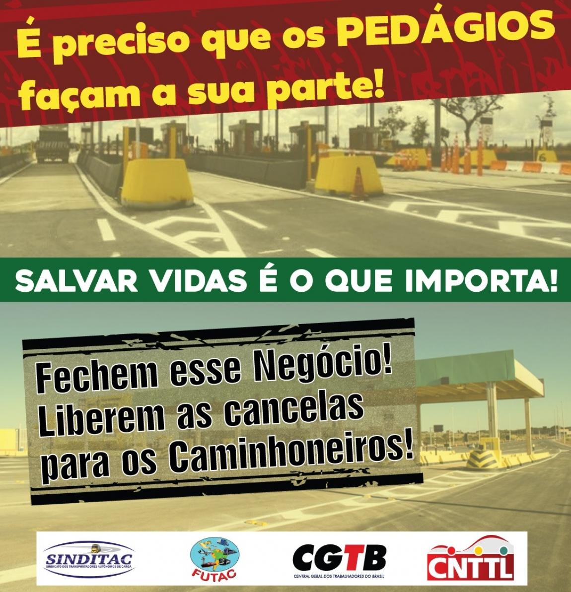 Imagem de Coronavírus: Caminhoneiros iniciam campanha em defesa da vida e pela liberação dos pedágios