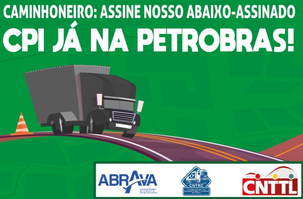 Imagem de Caminhoneiros divulgam abaixo-assinado em defesa da CPI na Petrobras