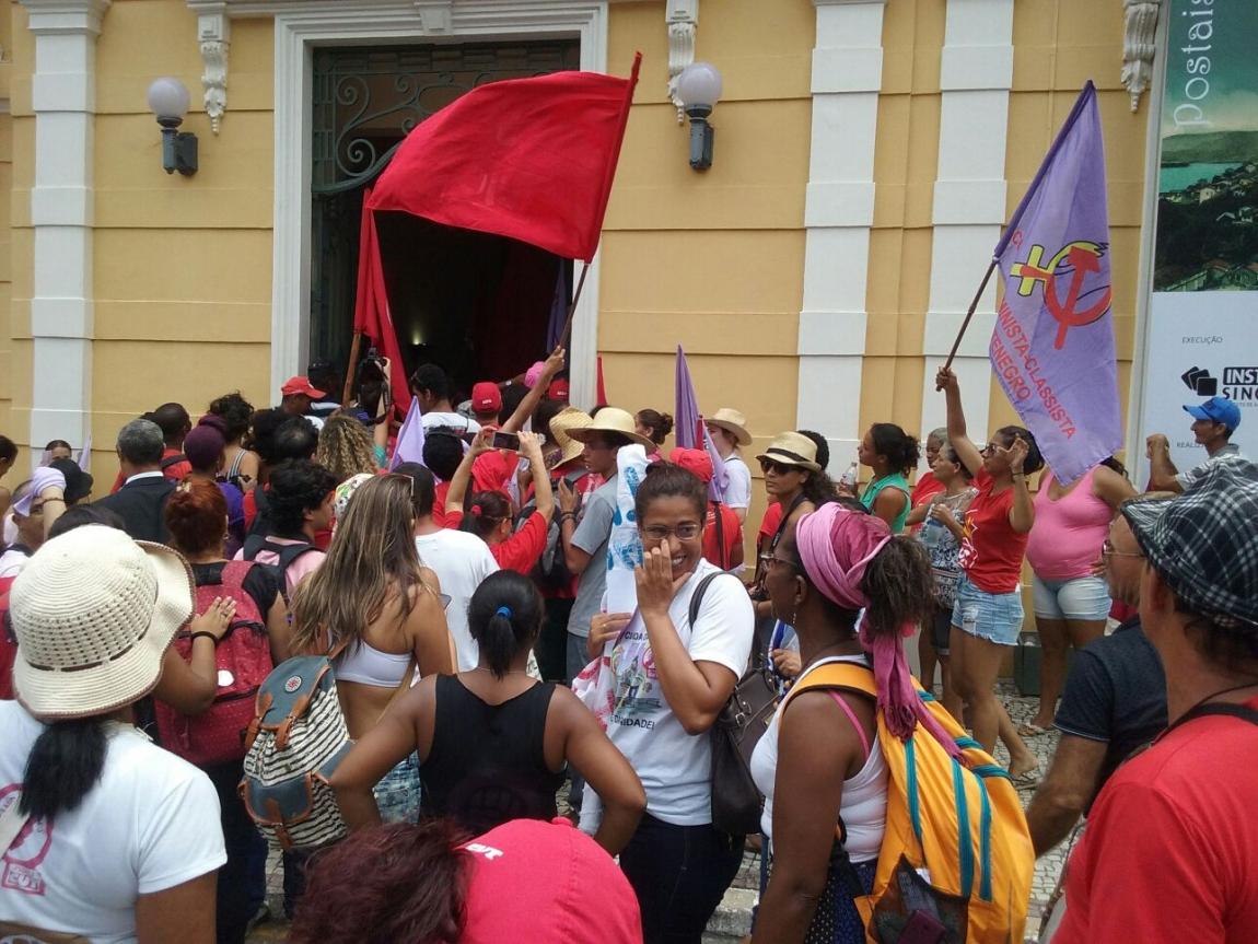 Imagem de Espírito Santo: Portuárias participam de ato contra a violência e em defesa de políticas para mulheres
