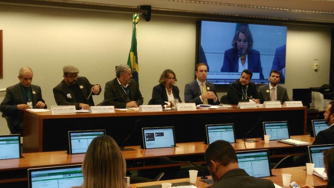 Imagem de Audiência pública na Comissão de Trabalho da Câmara debate luta permanente em defesa da Infraero
