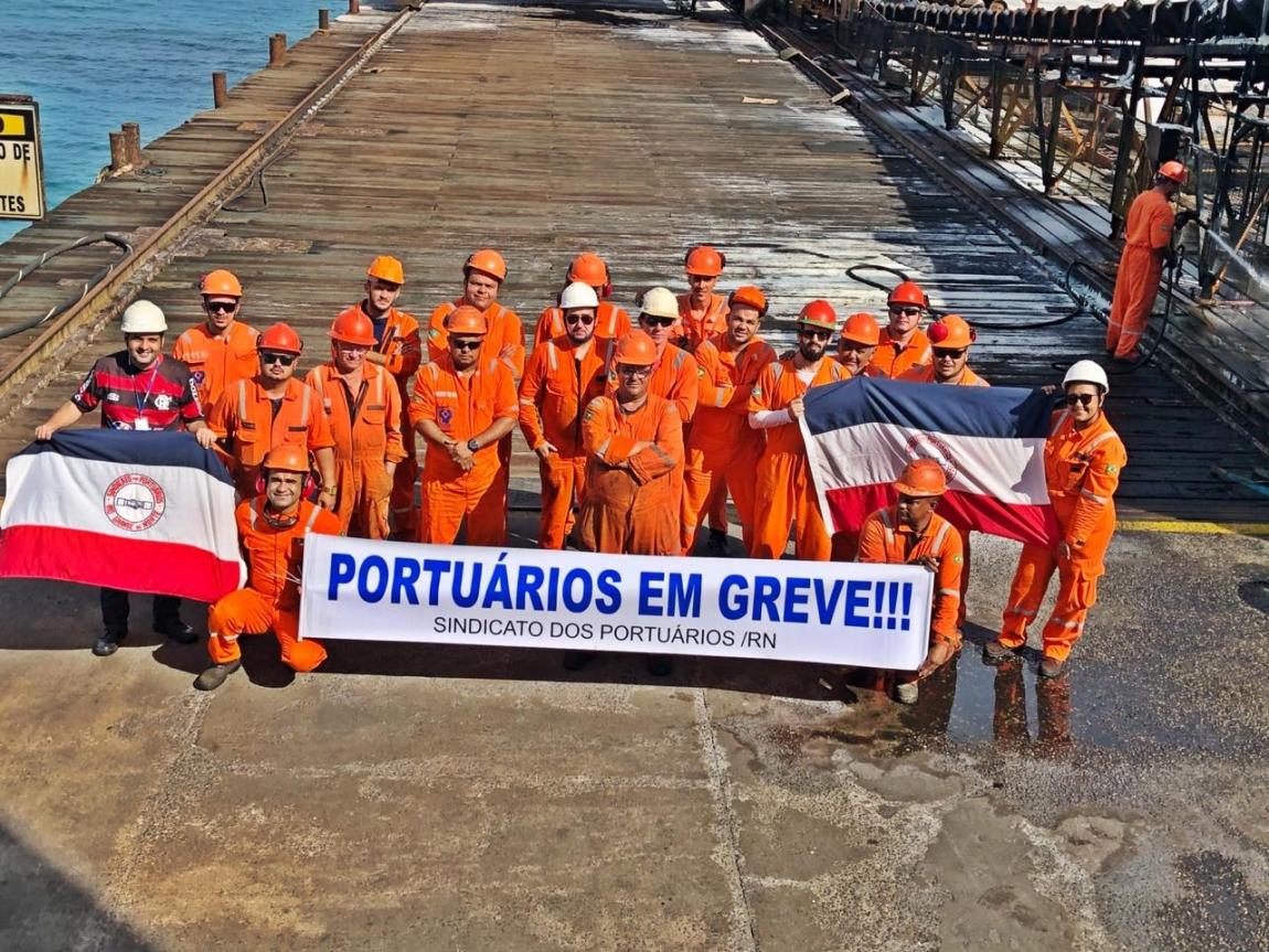 Imagem de Rio Grande do Norte: Portuários no Porto-Ilha iniciam greve de 48 horas
