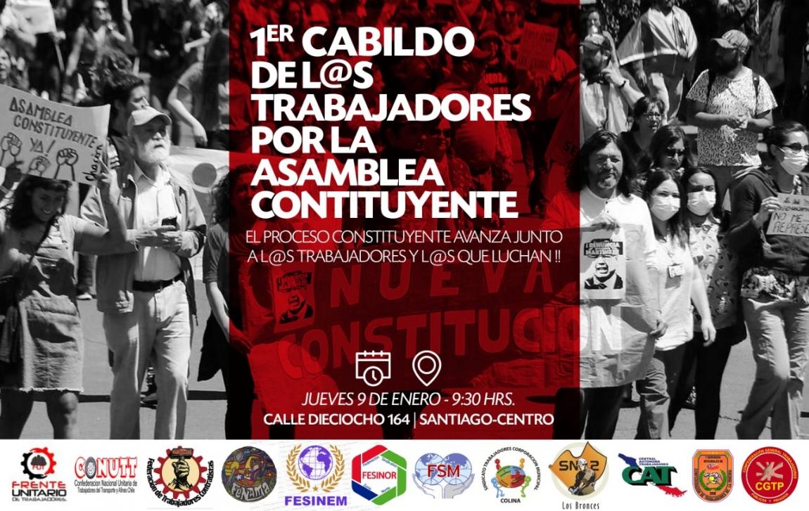 Imagem de Frente Unitária dos Trabalhadores do Chile debate Nova Constituição