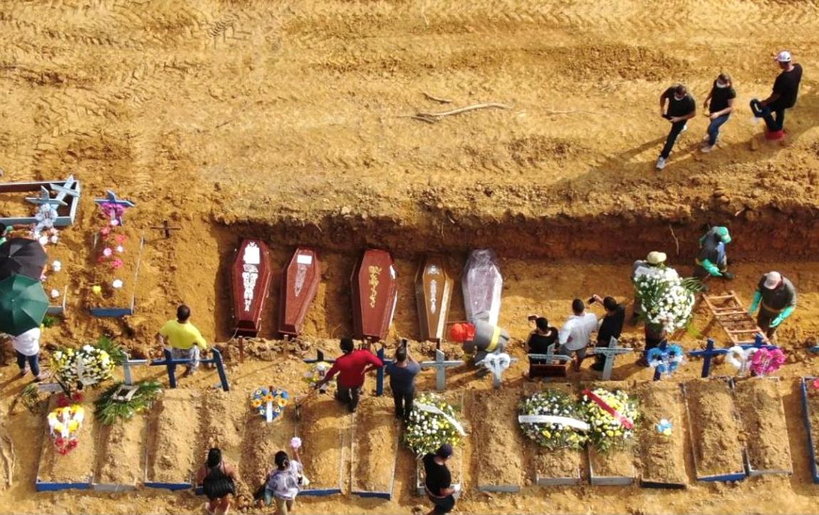 Imagem de Covid-19 deixa mais 2.216 mortos em 24 horas no Brasil. OMS vê país como risco para o mundo