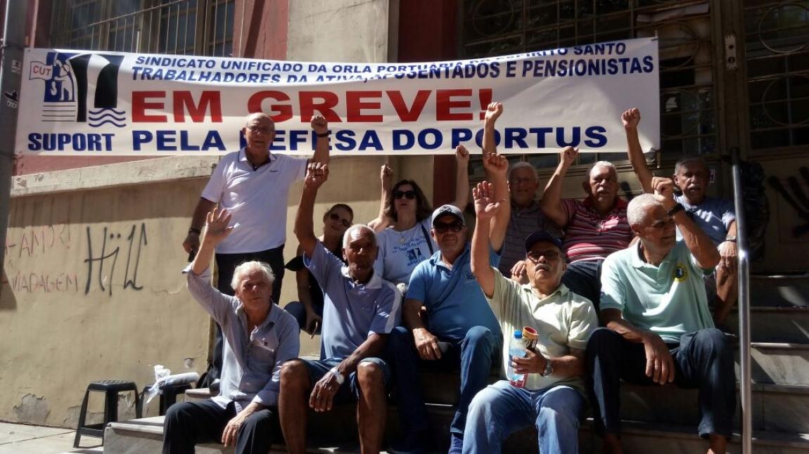 Imagem de ES:Portuários da ativa e aposentados da Codesa fazem greve