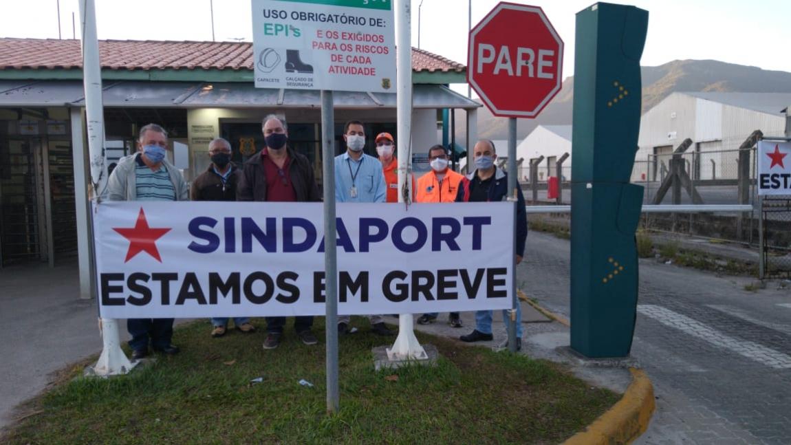 Imagem de São Paulo: Portuários da Companhia Docas de São Sebastião fazem paralisação em defesa dos salários