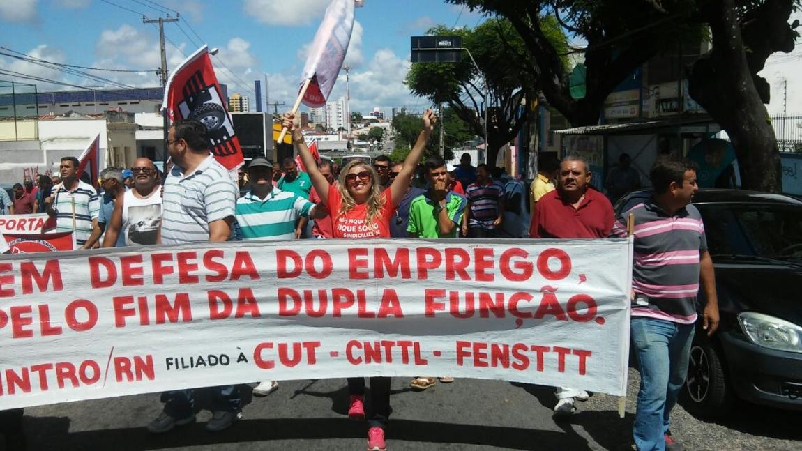 Imagem de Natal: Rodoviários fazem protesto contra dupla função e impasse na Campanha Salarial