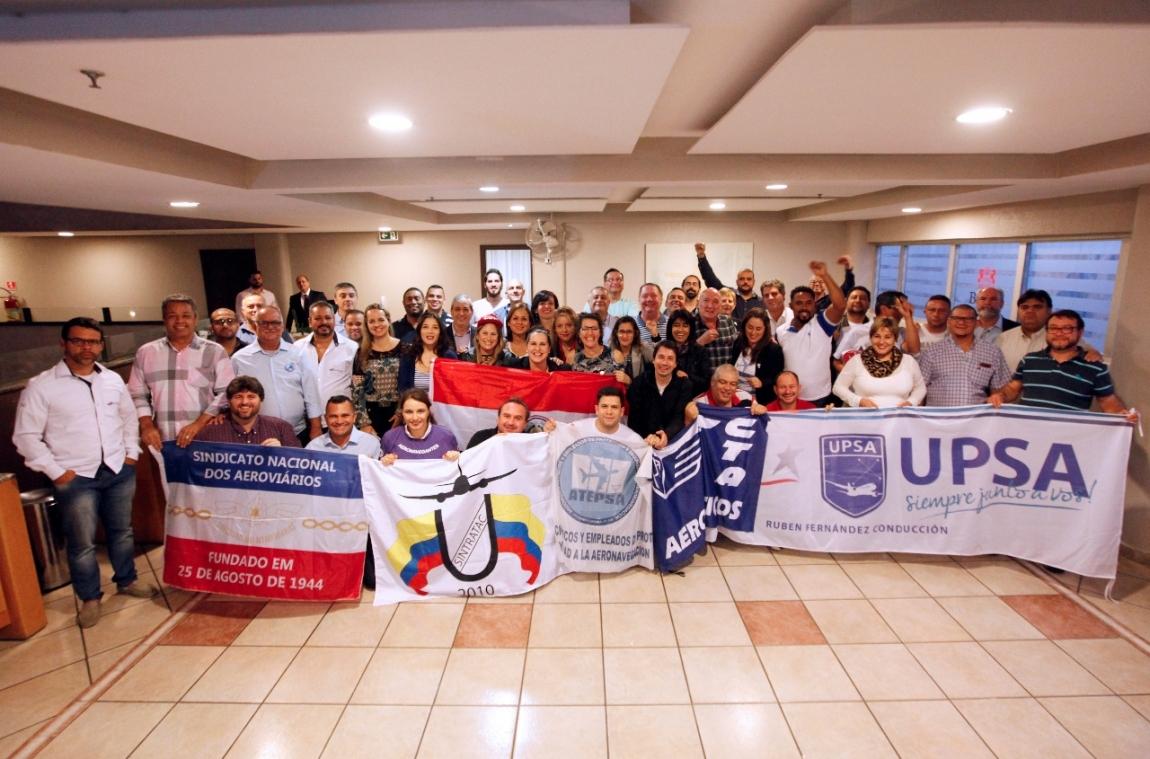 Imagem de Guarulhos: Rede Sindical LATAM/ITF debate ações para combater práticas da empresa que ferem os direitos