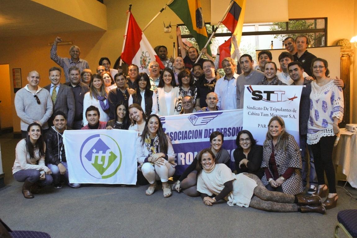 Imagem de Encontro ITF Paraguai: Sindicalistas brasileiros e latino-americanos pedem canal permanente de negociação com LATAM