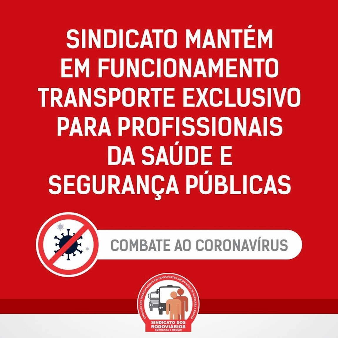 Imagem de Sorocaba: Sindicato dos Rodoviários manterá em funcionamento transporte especial para profissionais na saúde e segurança públicas