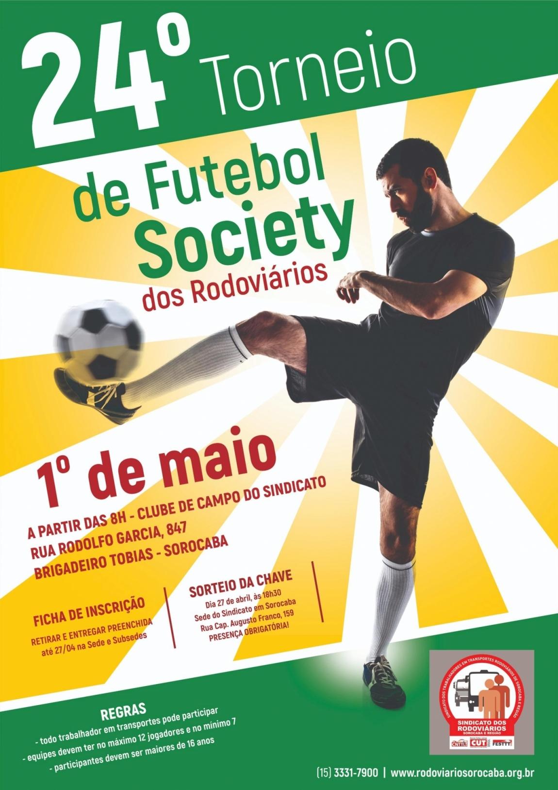 Imagem de Sorocaba: Rodoviários abrem inscrições para 24º Torneio de Futebol Society