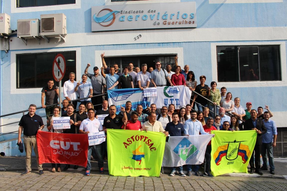 Imagem de # EncontrolTF Sindicatos da Aviação Civil da América Latina debatem ações contra precarização do trabalho e em defesa dos direitos