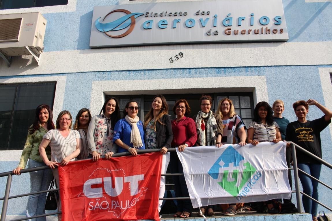 """Imagem de Programa """"Defensoras das Mulheres"""" da ITF é destaque no Encontro Regional dos sindicatos dos trabalhadores da aviação civil da América Latina"""