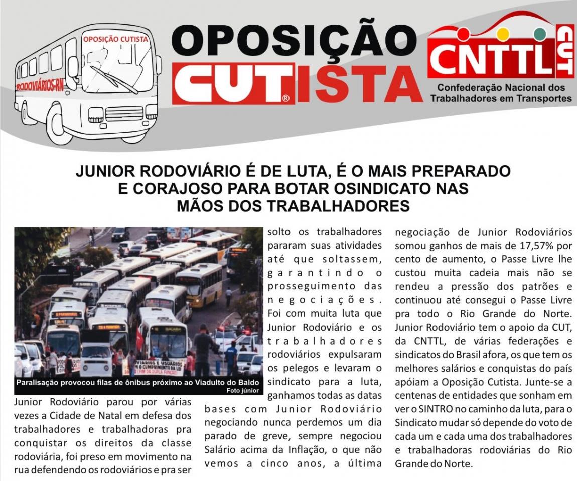 Imagem de Rio Grande do Norte: Oposição cutista dos rodoviários lança boletim