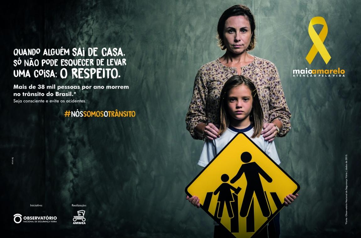 """Imagem de """"Nós somos o trânsito"""" é o tema do Maio Amarelo"""