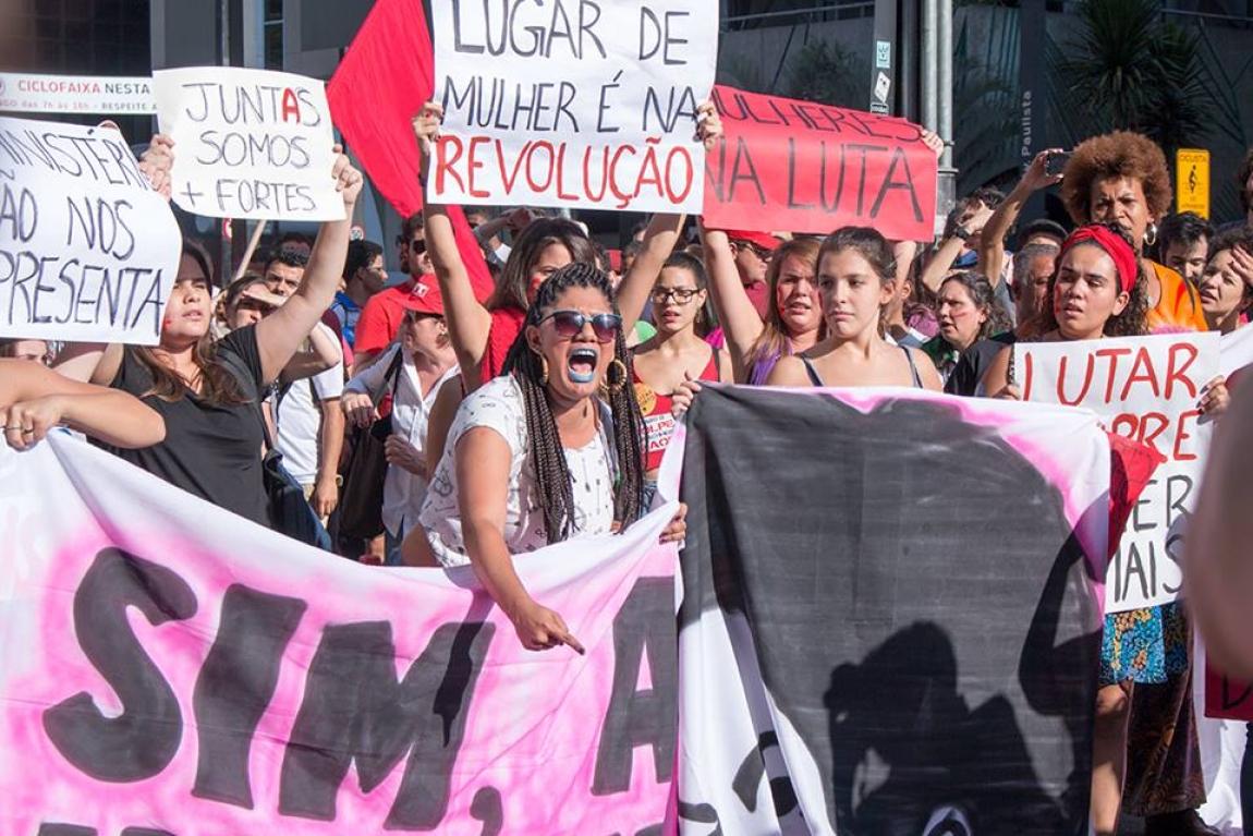 """Imagem de SP: Mulheres saem às ruas e mandam recado """"Não nos calaremos diante desse golpe"""""""