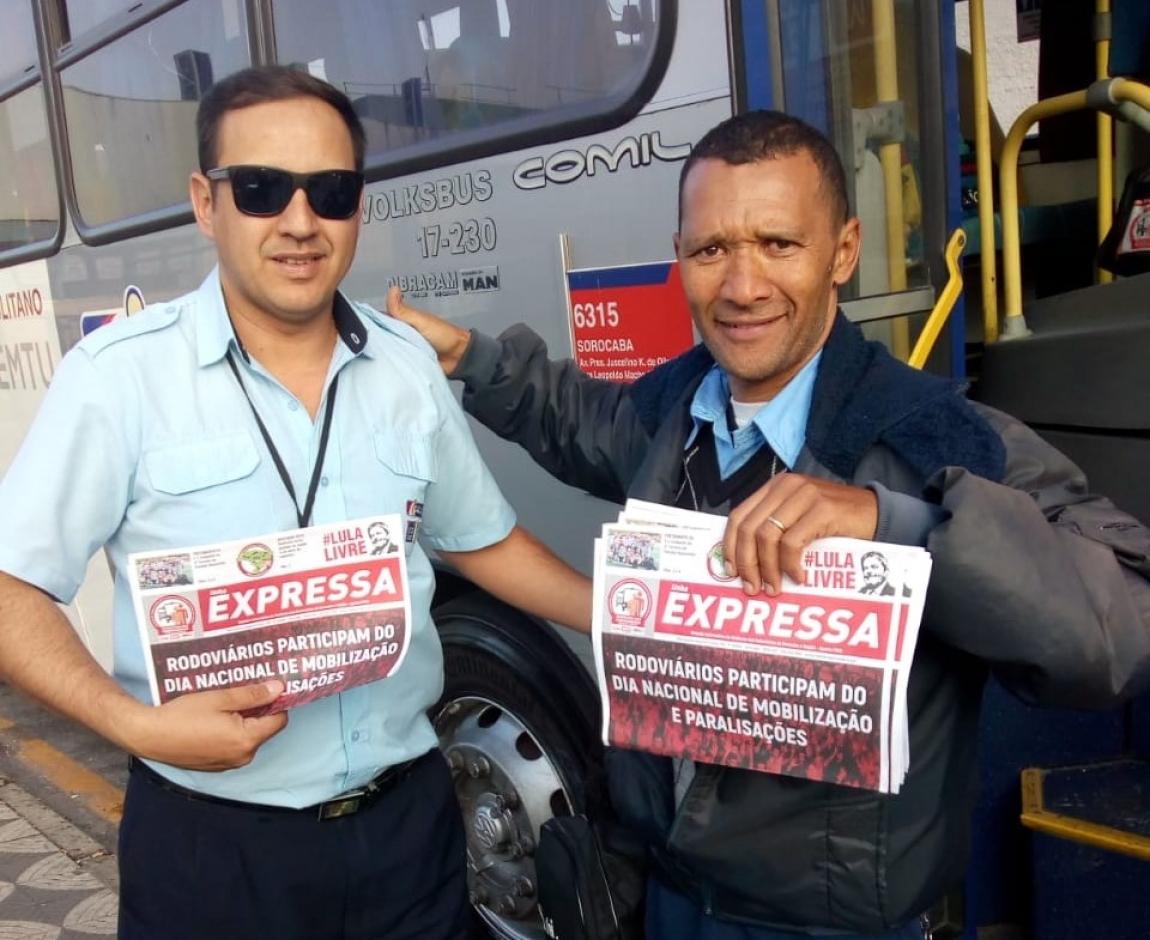Imagem de Dia do BASTA: Trabalhadores em transportes mobilizam as bases