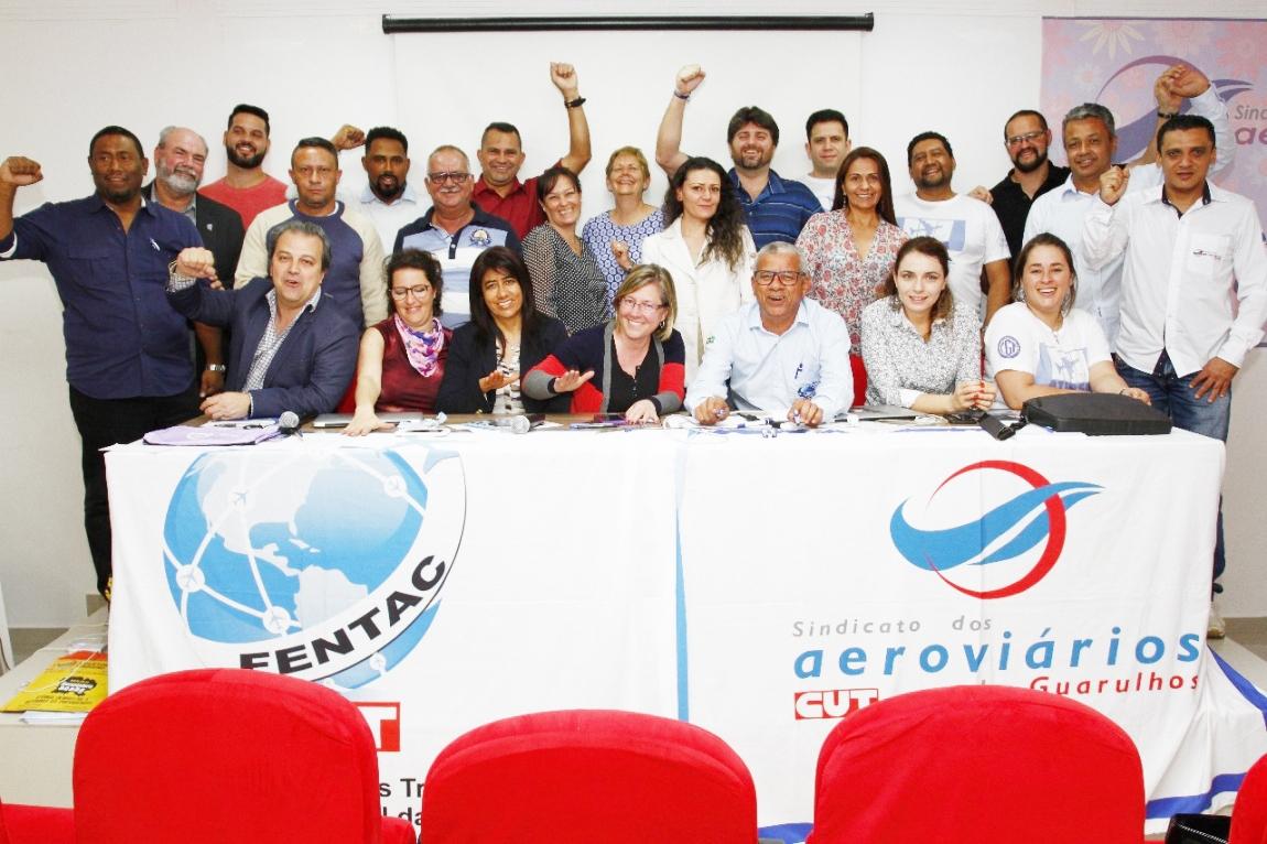 Imagem de Guarulhos: Sindicalistas compartilham experiências de enfrentamento às práticas antissindicais da Avianca/TACA na América Latina e Brasil