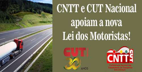 Imagem de CNTT e CUT apoiam projeto da nova Lei dos Motoristas